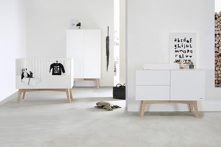 Sixties Weiß / Eiche Natur