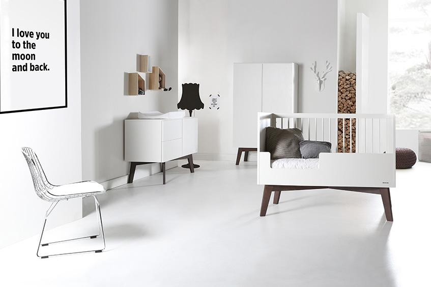 Sixties Weiß / Dunkel Kiefer