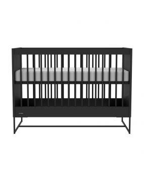 Intense Schwarz / Schwarz - Bett 60x120
