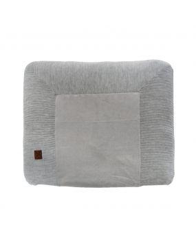 Knitted Grau - Wickelauflagenbezug 80x65
