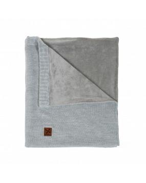 Knitted Grau - Kinderdecke (umbau)bett