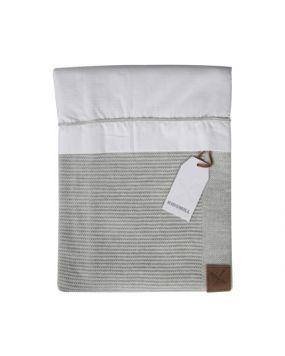 Knitted Grau - Bettwäsche für Wiege