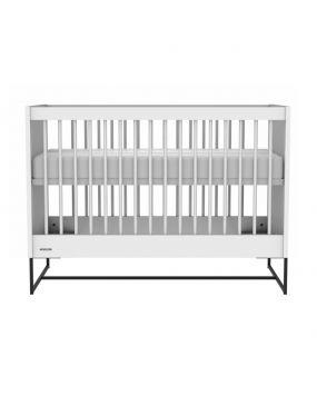Intense Weiß / Schwarz - Bett 60x120
