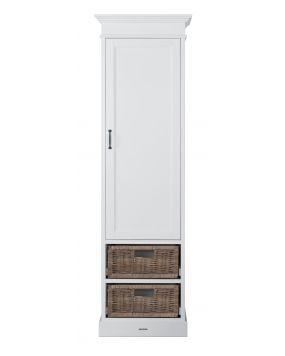 La Première Weiß / Rattan - Schrank (1 Tür)
