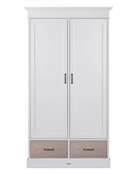 La Première Weiß / Eiche - Schrank (2 Türen)
