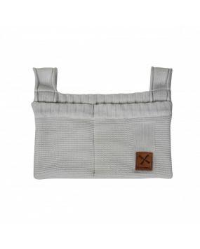 Knitted Grau - Dekoration Beutel