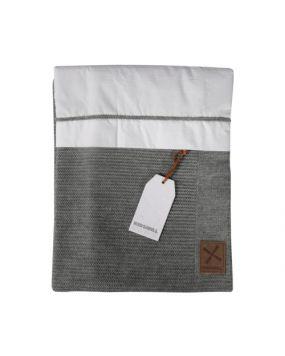Knitted Anthrazit - Bettwäsche für Wiege