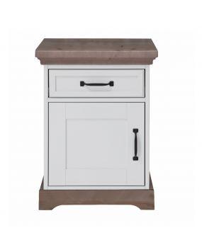 Savona Weiß / Grau mit Kreuz - Nachttisch