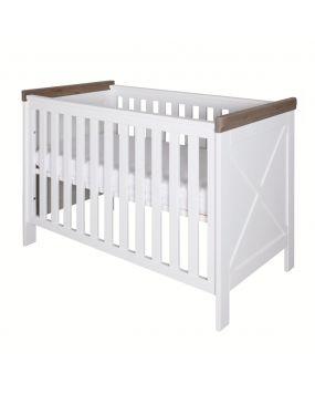 Savona Weiß / Grau mit Kreuz - Bett 60x120