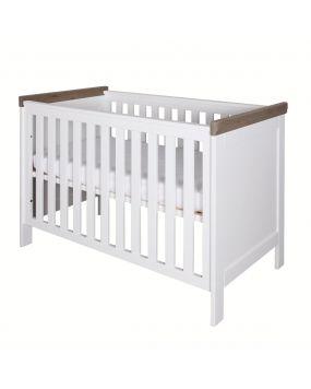 Savona Weiß / Grau ohne Kreuz - Bett 60x120