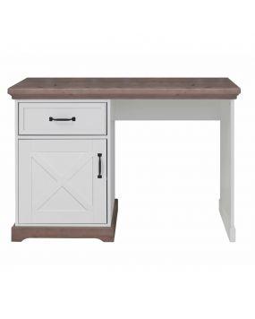 Savona Weiß / Grau mit Kreuz - Schreibtisch