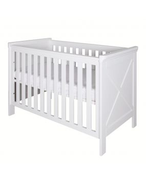 Savona Weiß mit Kreuz - Bett 60x120